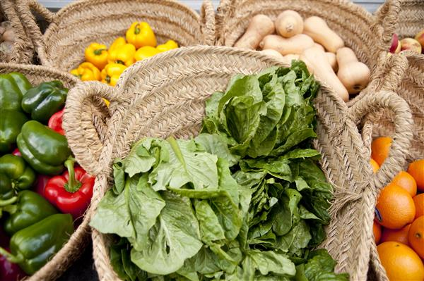 vegetables on a market